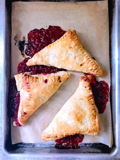 socially distanced dessert raspberry turnovers
