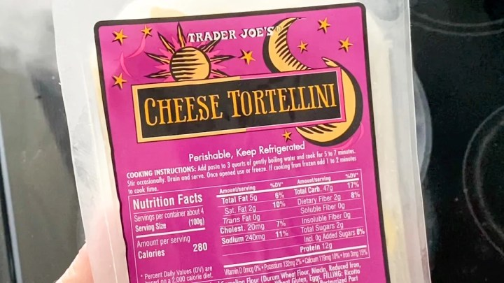 cheese tortellini from trader joe's