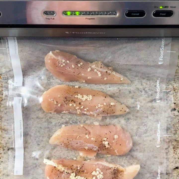 making sous vide chicken for a party