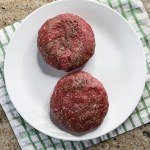 raw ground beef patties for burgers