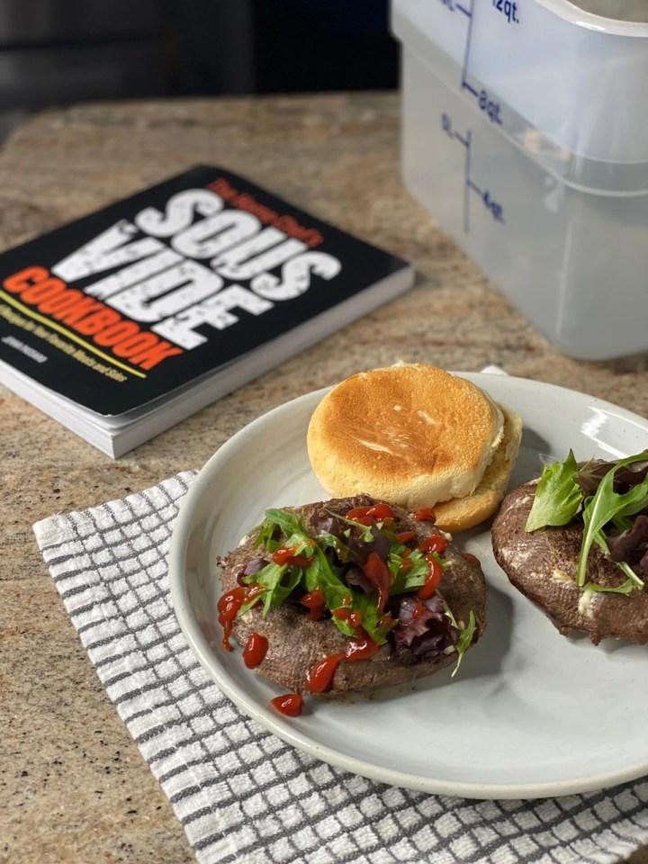 Sous vide cookbook with sous vide burger recipe demonstration
