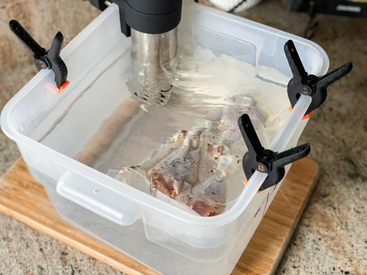 cooking chicken with anova sous vide machine
