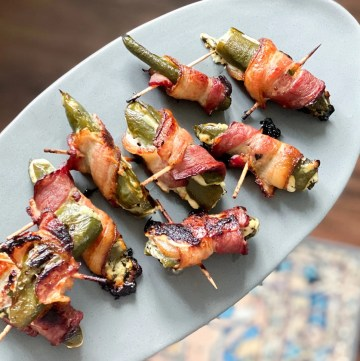 Bacon Wrapped Jalapeño Poppers With Goat Cheese