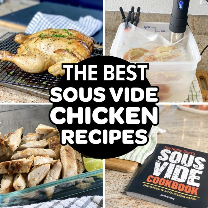 Chicken Sous Vide Recipes For Beginners collage of dishes