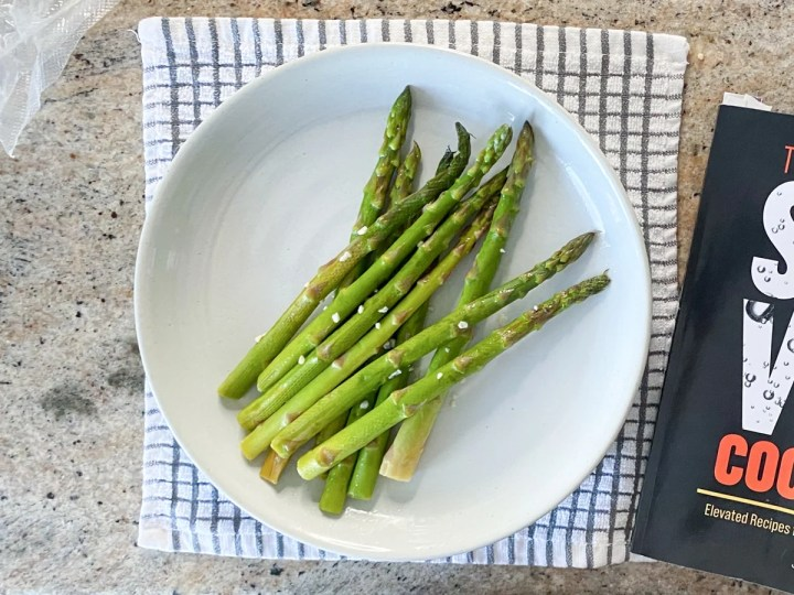asparagus cooked from frozen