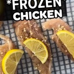 Pinterest pin for How to Sous Vide Frozen Chicken Breast Recipe Tips