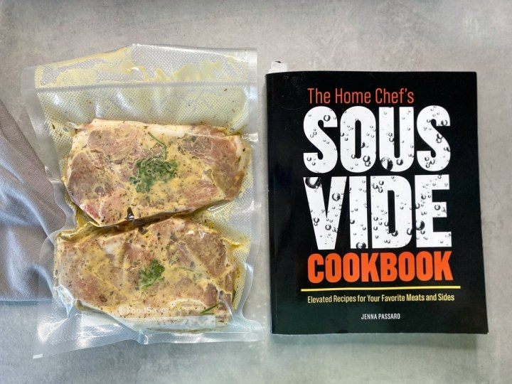 sous vide pork chops with the home chef's sous vide cookbook