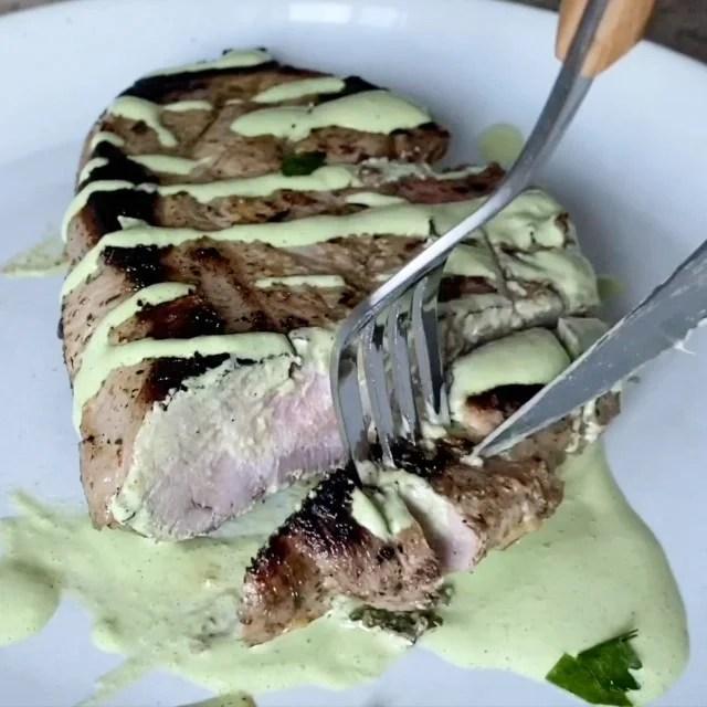 tender sous vide pork chops bone in style