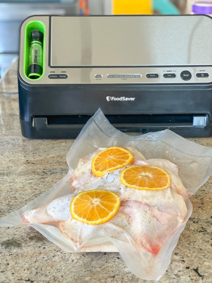 vacuum sealing whole chicken with foodsaver 4400