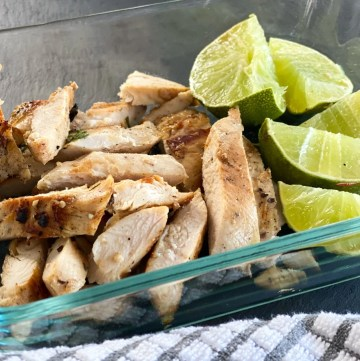 chicken breast marinated in lime juice and garlic