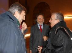 a destra Pierangelo Geppetti, al centro Franco Cracolici