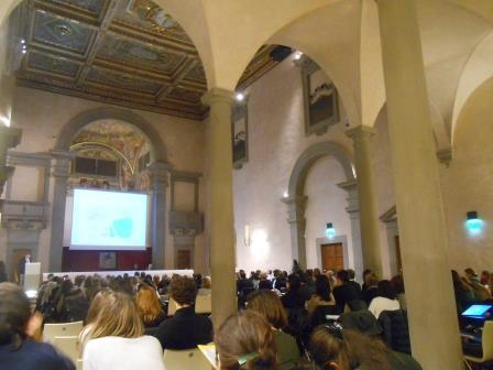 Uno scorcio della splendida sala dell'Auditorium Sant'Apollonia a Firenze