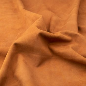 Silky suede terracotta Sipo l6r339s - leather for garments without lining