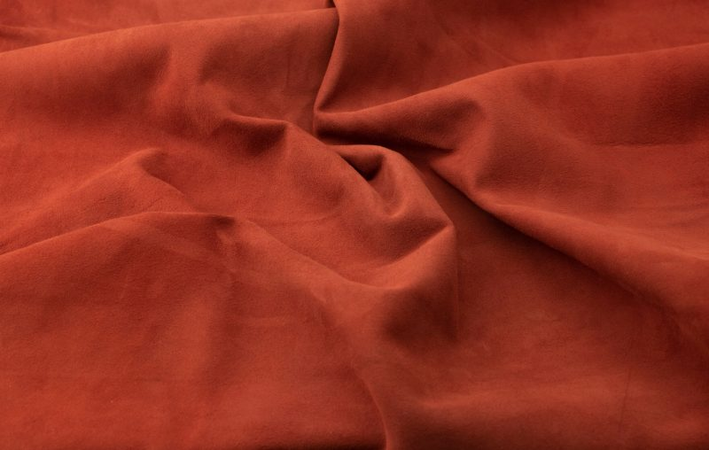 Silky suede smoked paprika Sipo l6r425s - leather for garments without lining