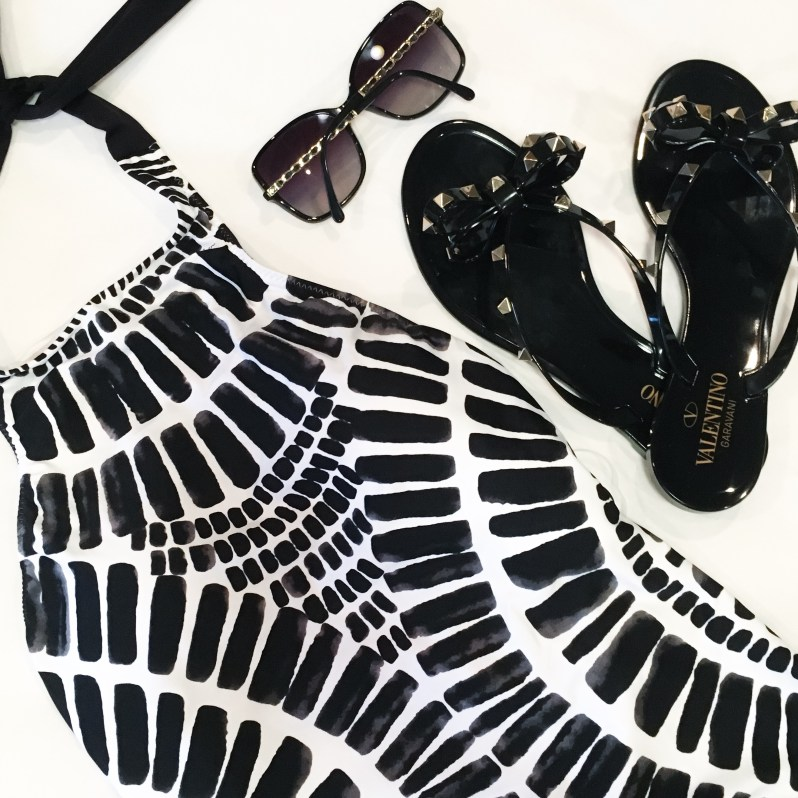 Trina Turk Swim Valentino Rockstude Flip Flops Chanel Sunglasses