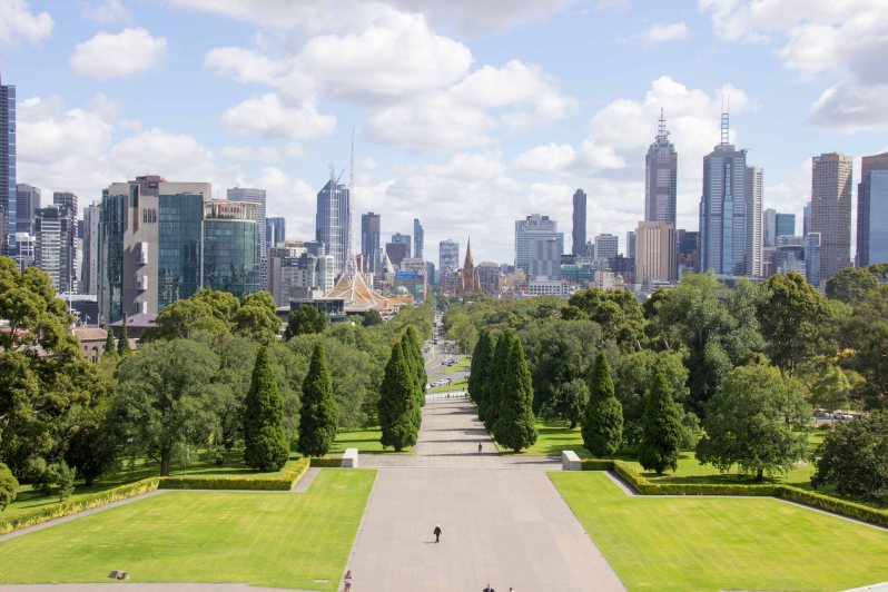 Melbourne Skyline from Shrine of Remembrance.jpg