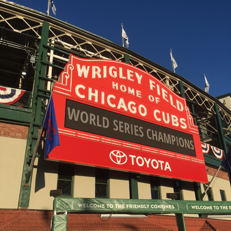 Chicago Cubs Marquee World Series