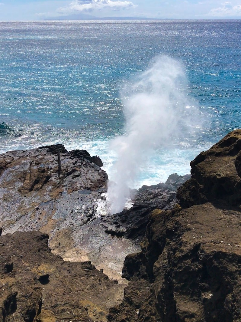Blow Hole Oahu Hawaii