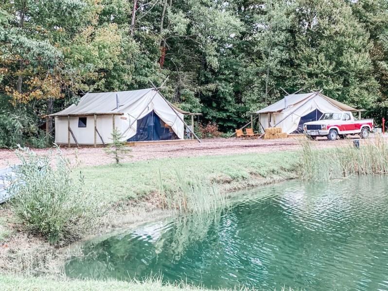 Glamorous Tents Vintage Truck Pond