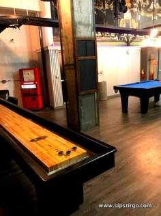 Kimpton Cardinal is an adult playground. Shuffleboard, poker tables, pool, foosball, magnetic wall Scrabble and that's not all . . .