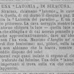 Giornale dell'Esposizione Nazionale di Palermo - 1891-92 - La Latomia del Paradiso