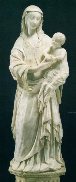 """Francesco Laurana, """"Madonna della Grazia"""" - Palazzolo - Chiesa dell'Immacolata - Statua in marmo di Caarrara - Alt. cm 190 (1471-1472)"""