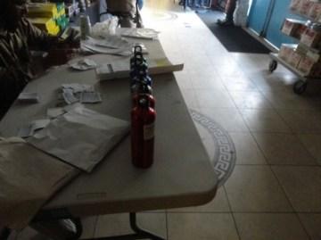 Setup of table