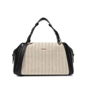 MAX MARA Elsa Small raffia and leather shoulder bag