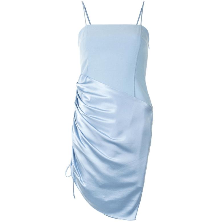 Cinq A Sept vestido corto fruncido