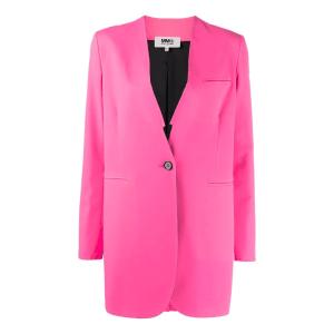 MM6 Maison Margiela collarless button-front blazer jacket