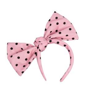 RED(V) polka dot bow-embellished headband