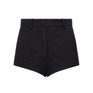 SAINT LAURENT Polka-dot cotton-blend shorts