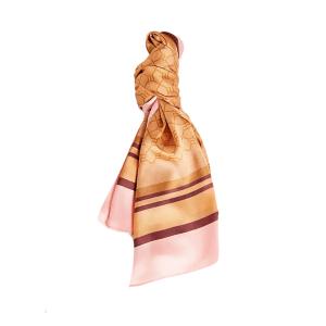 River Island checkerboard monogram scarf in beige