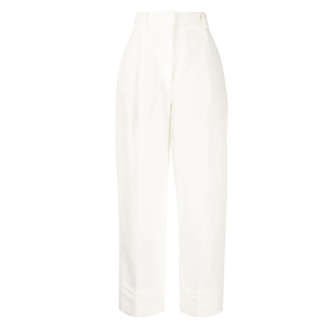 Brunello Cucinelli pantalones rectos de talle alto