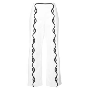 SARA BATTAGLIA Contrast-trim Wave Trousers