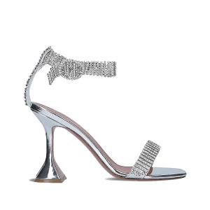 AMINA MUADDI Jah Jah crystal-embellished leather heeled sandals