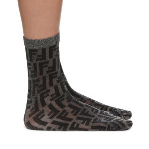 FENDI Black Short Lurex Sock