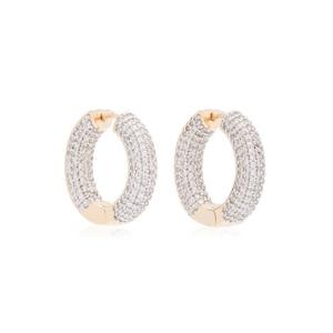 FALLON Crystal 18K Gold-Plated Hoop Earrings