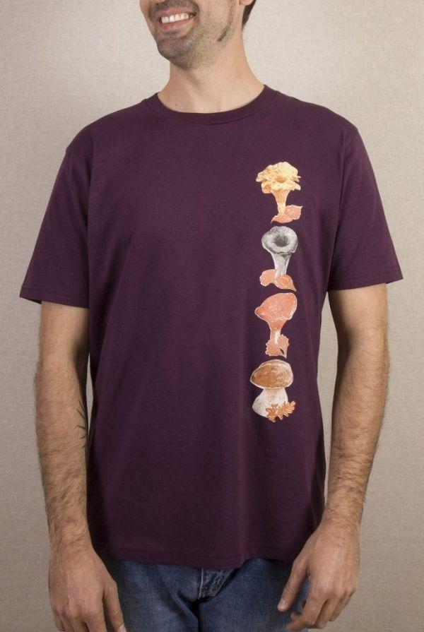 camiseta-ecologica-algodon organico-setas-hombre-granate-sirem wild