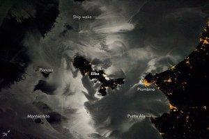 L'Elba vista dalla stazione spaziale ISS