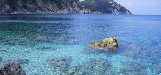 La costa settentrionale dell'Elba