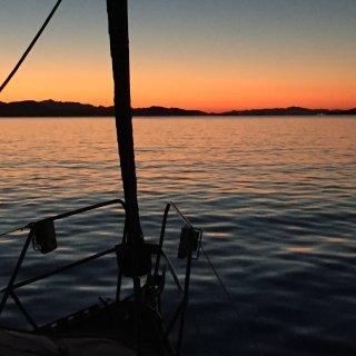 Un bellissimo tramonto nell'Arcipelago della Maddalena