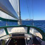 Navigando da Carloforte verso Capo Teulada