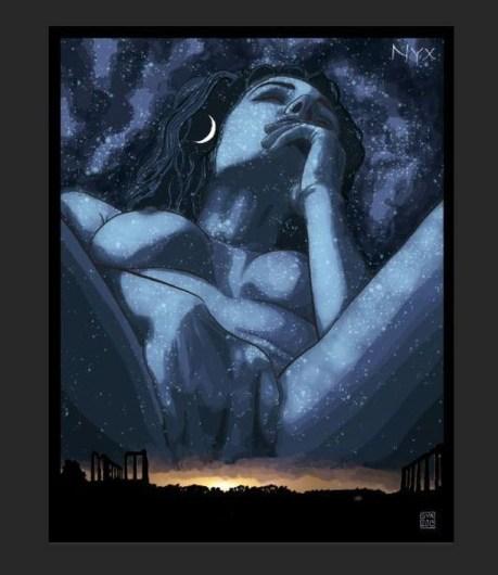 Nyx, déesse de la nuit