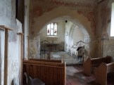 View into the chapel at St Thomas' Church East Shefford