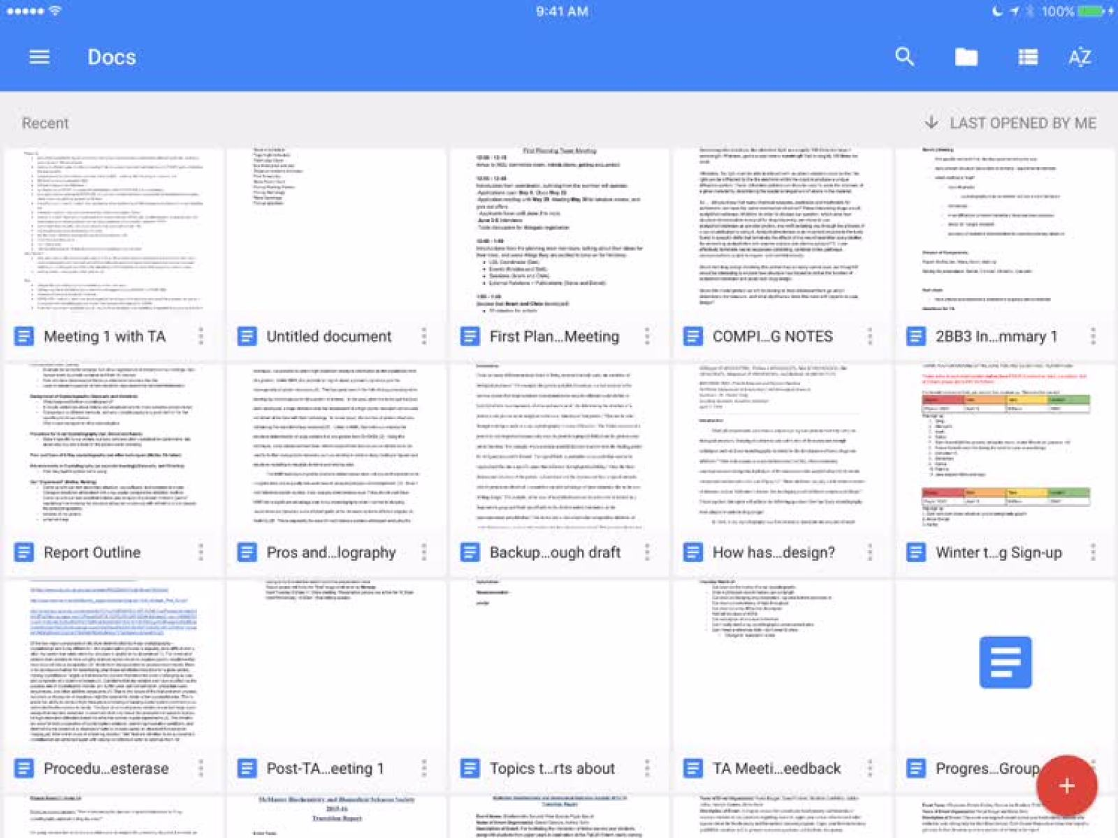 Откройте файлы Google Диска в Документах