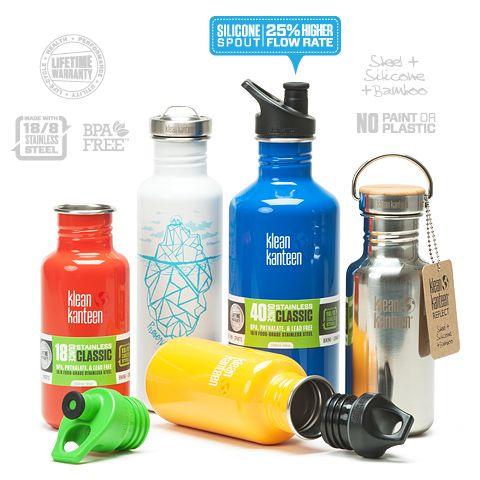 Modelos botellas Klean Kanteen de excelente calidad.