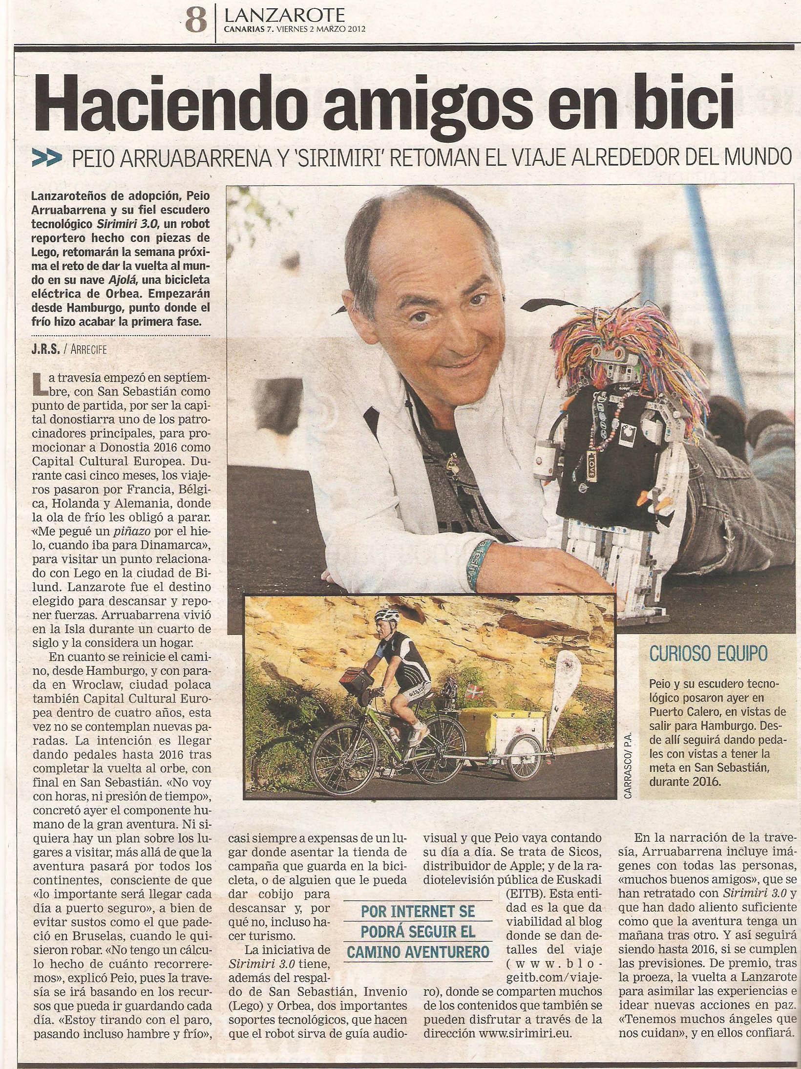 Resonancia De Nuestras Vueltas Por El Mundo En La Prensa