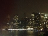Lower Manhattan by night.
