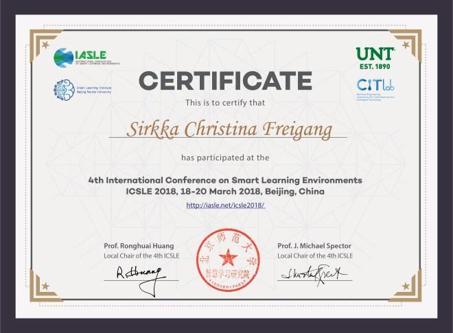 4th ICSLE____-Sirkka Christina Freigang